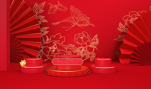 C4D新年立体春节图片