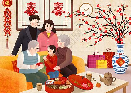 新年团圆拜大年图片