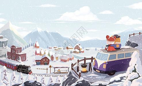 冬季看雪景图片