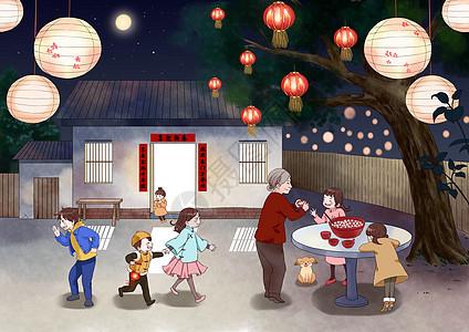 元宵节吃汤圆图片
