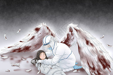 受伤的白衣天使保护病人图片