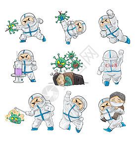 抗击疫情防护服医生图片