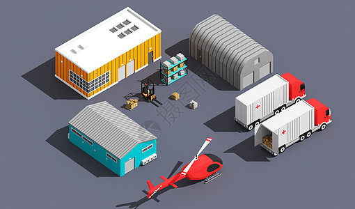 物资运输场景图片