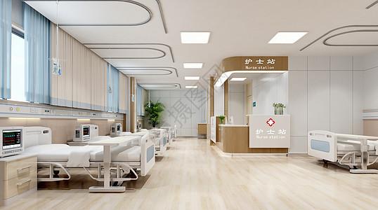 3D医院病房场景图片