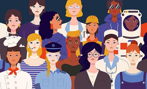 三八妇女节职业群像图片