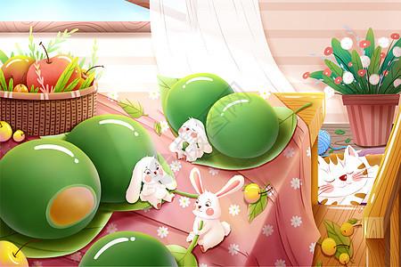 二十四节气清明节传统食物青团图片