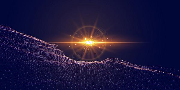 矢量粒子科技背景图片