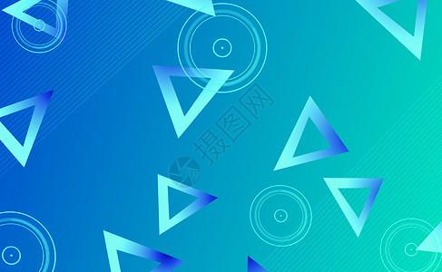 蓝色商务几何背景picture