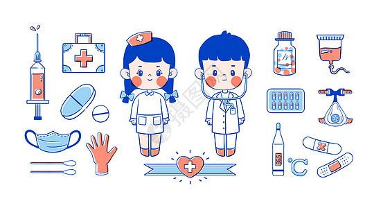简笔画儿童医疗图片