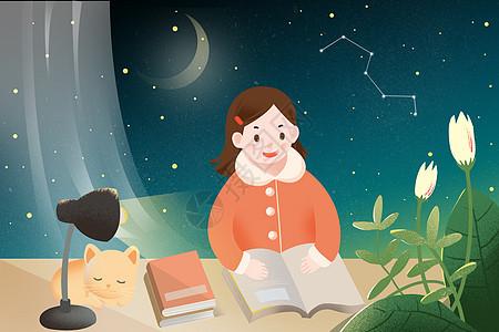 世界读书日阅读看书图片