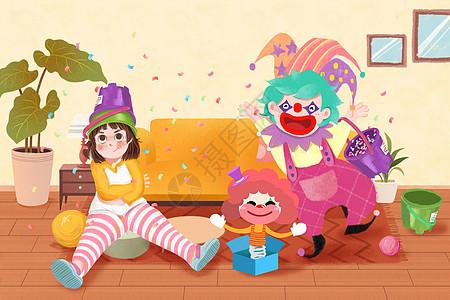 宅在家里过愚人节的孩子图片