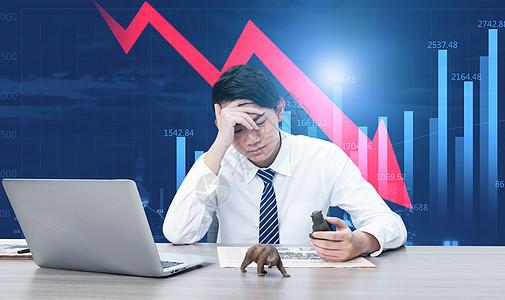 股市下跌图片