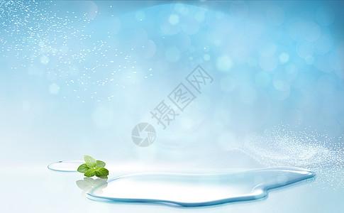 蓝色清爽背景图片