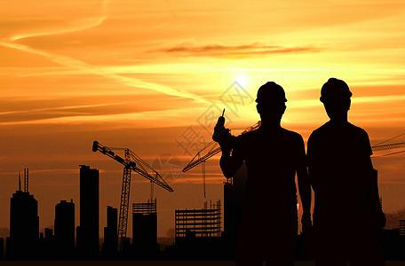 夕阳劳动场景图片