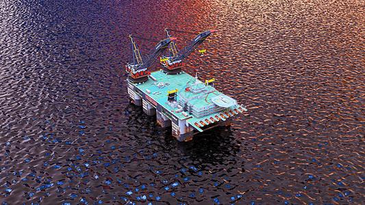 3D石油开采场景图片