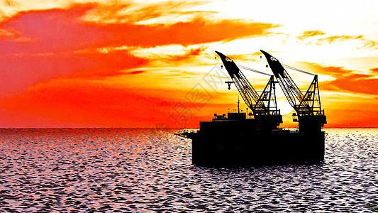 海上开采石油图片