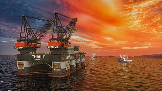 创意石油资源场景图片