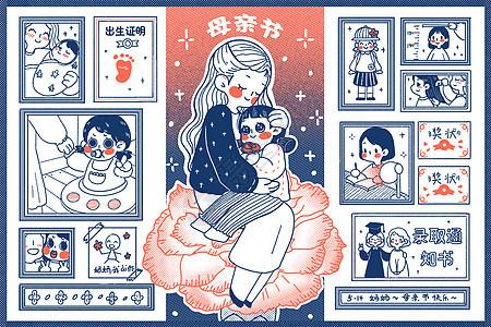 简笔画母亲节图片