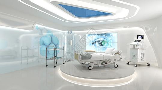 ICU病房场景图片