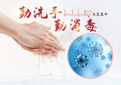 勤洗手勤消毒图片