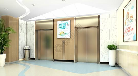医院电梯场景图片