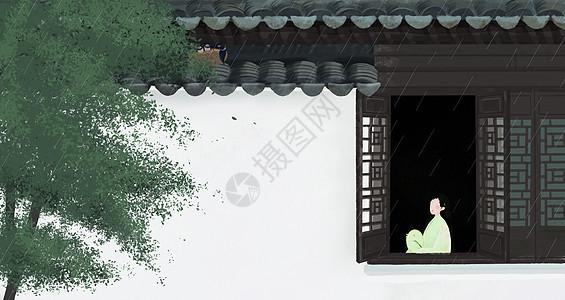 中国风24节气谷雨图片