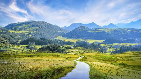 美丽的乡村道路图片