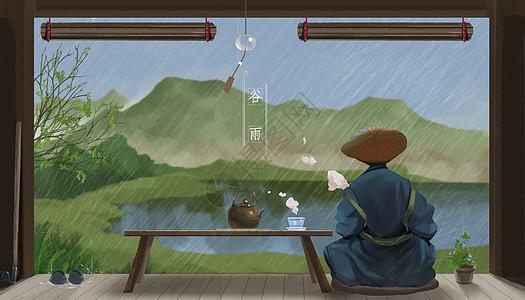 谷雨品茶图片