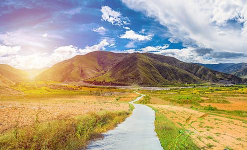乡村公路背景图片