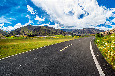 乡村马路背景图片
