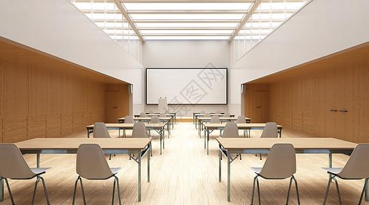 3D教室场景图片