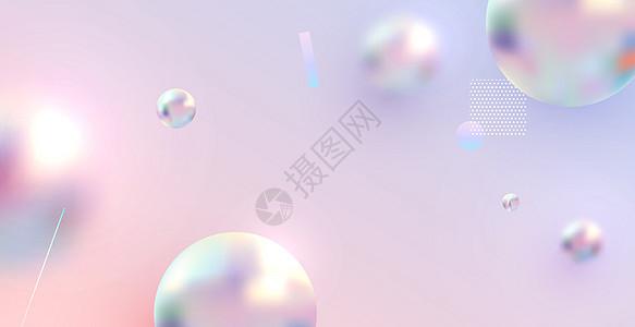 梦幻粉色几何背景图片