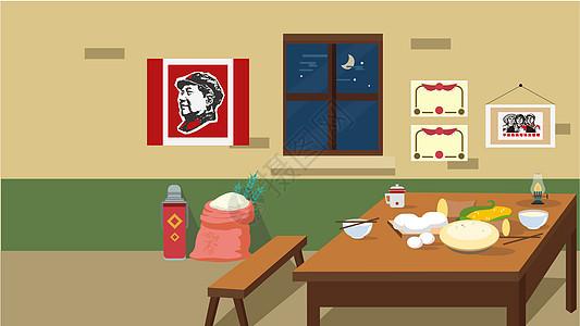 家庭餐桌图片