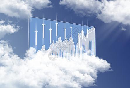 云数据金融曲线图标图片