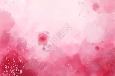 红色水彩渐变背景图片
