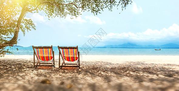 海边度假背景图片