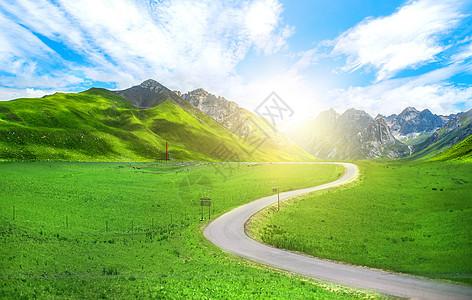 乡村小路背景图片