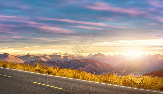 美丽的乡村公路背景图片