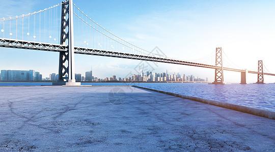3D城市大气背景图片