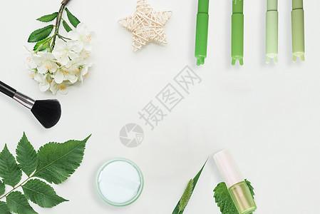 清新化妆品背景图片