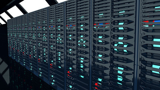 3D机房服务器图片