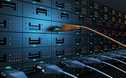 网络数据线机房图片