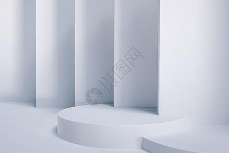白色简约柔光展台背景图片
