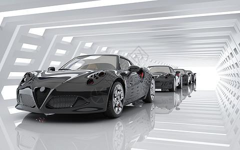 跑车汽车生产场景图片