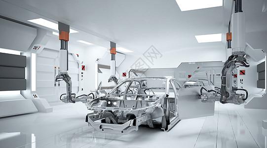 汽车制造场景图片
