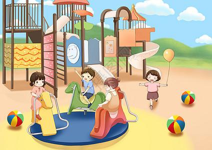 儿童节游乐场图片