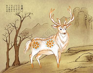 山海经神兽白鹿图片