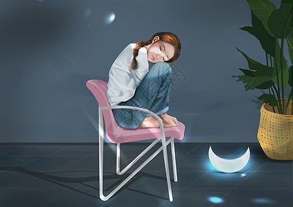 一个人的夜晚不孤单有星星月亮陪伴你图片