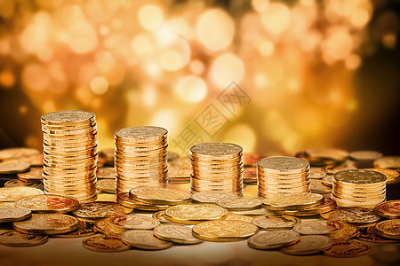 金融金币图片