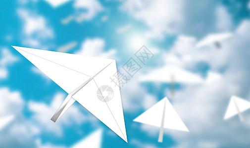 创意纸飞机图片